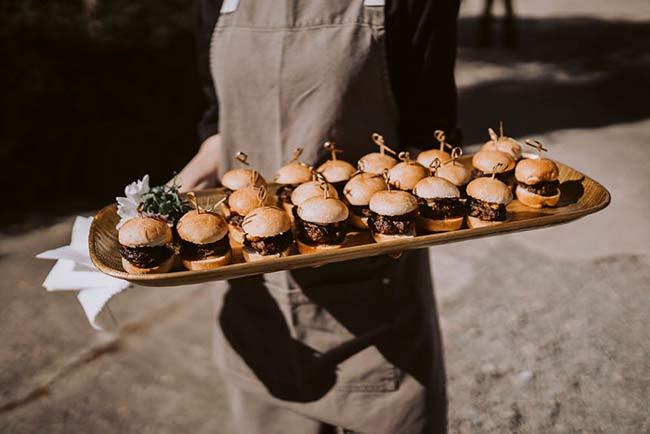 Little mini burger canapes