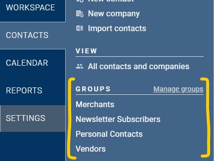 Filter for a group in Less Annoying CRM!