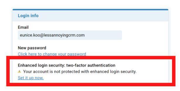 Enhanced login security