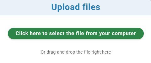 Upload file dialog