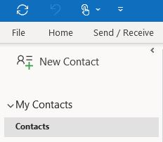 Outlook new contact