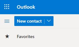 Outlook 365 new contact