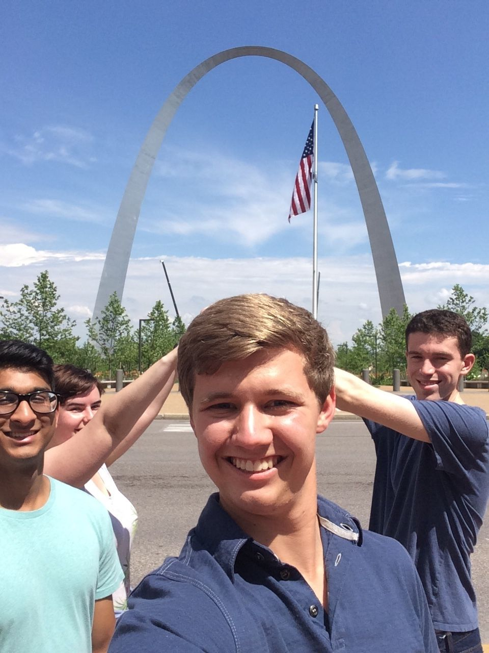 Less Annoying Interns in front of the arch