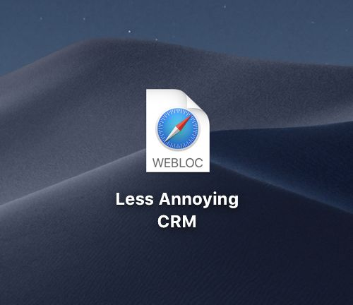 Create a shortcut to LACRM on Mac
