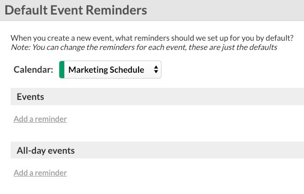 Julia's event reminders