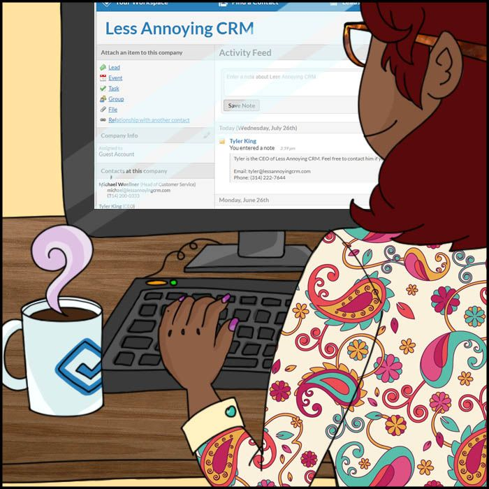 Typing in LACRM