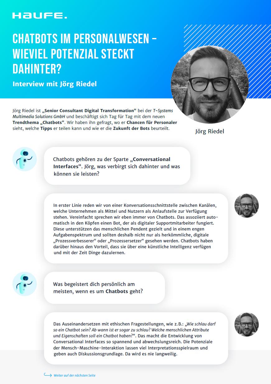 Interview - Potenzial von Chatbots im Personalwesen