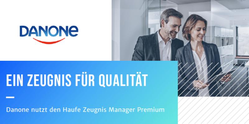 Case Study: Danone nutzt den Haufe Zeugnis Manager Premium Download