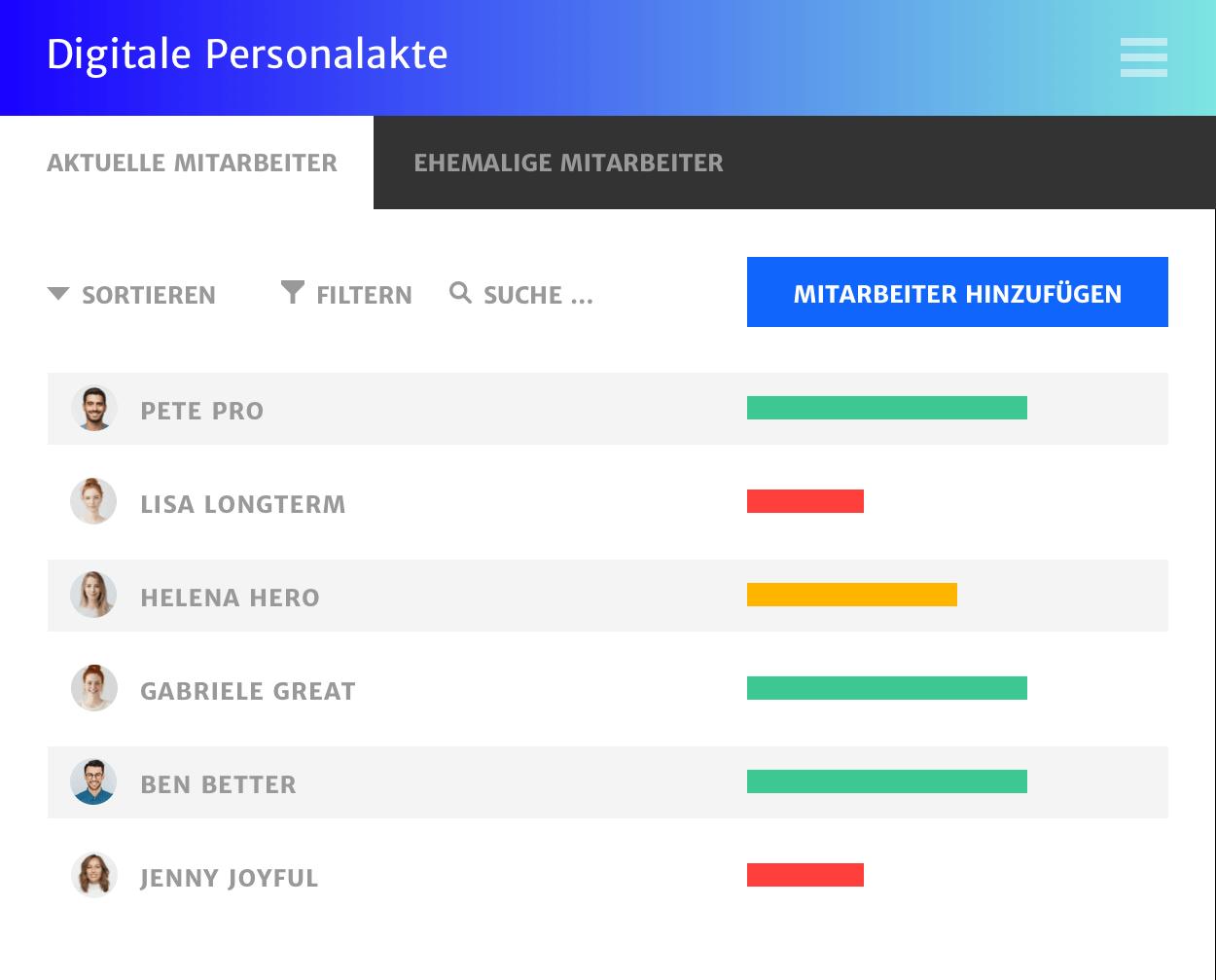 Daten einfach anlegen, suchen und finden. Haufe Digitale Personalakte