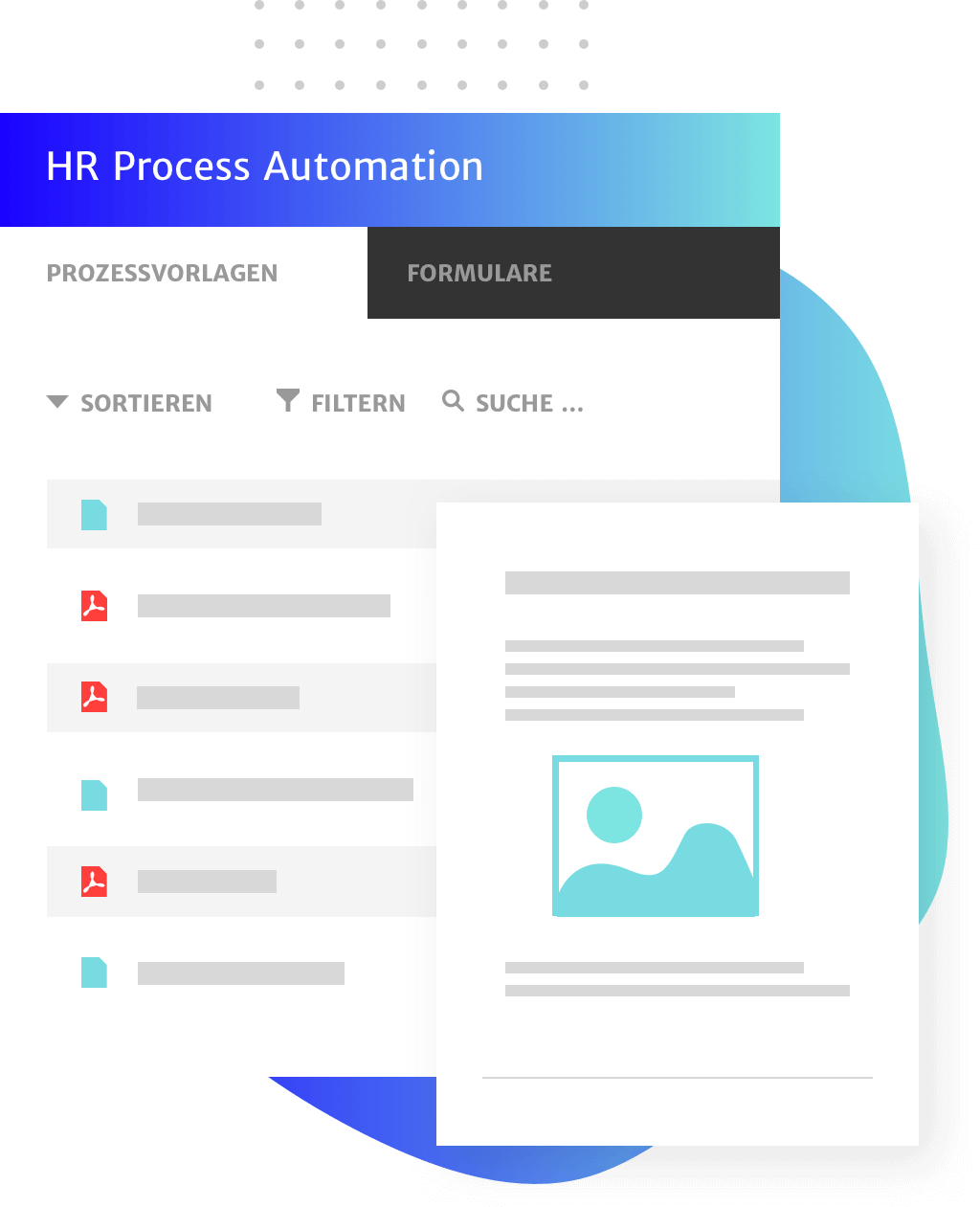 HR Prozesse innerhalb der DMS Lösung von Haufe