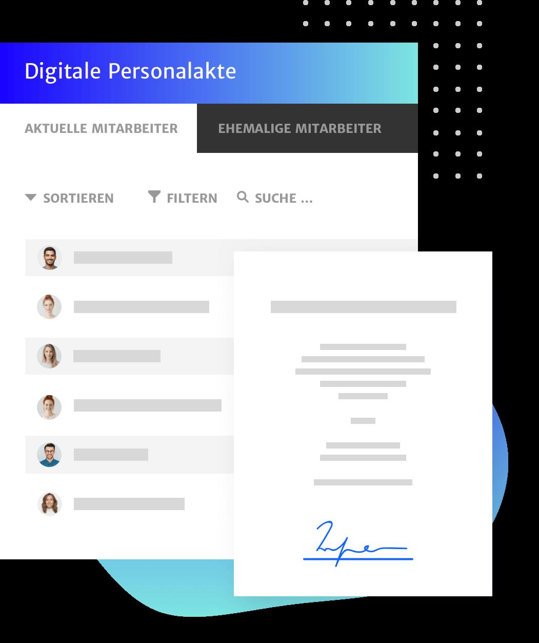 Digitalen Personalakte innerhalb der DMS Lösung von Haufe