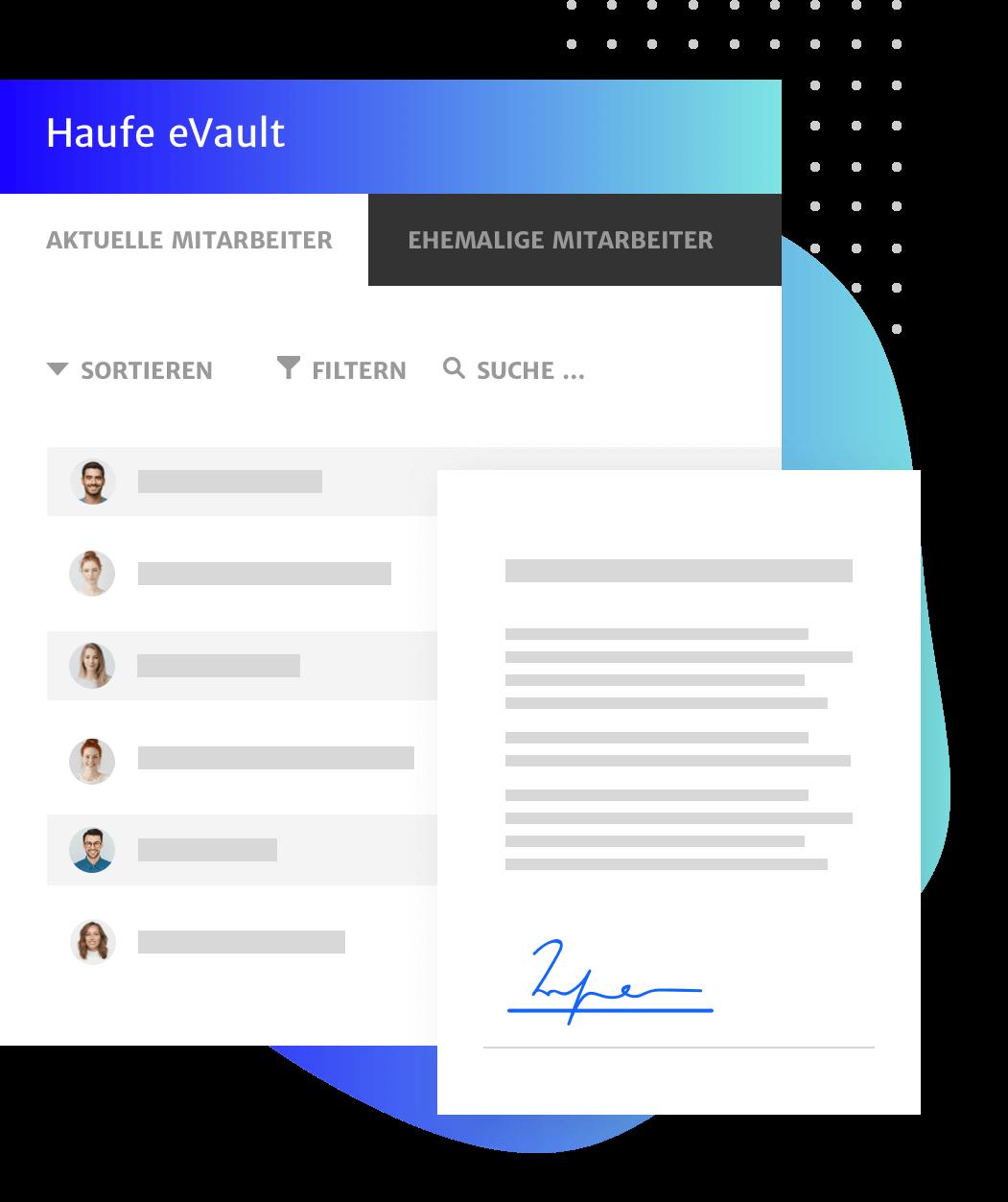 Sicherung von HR Dokumenten mit dem elektronischen Schliessfach - Haufe eVault
