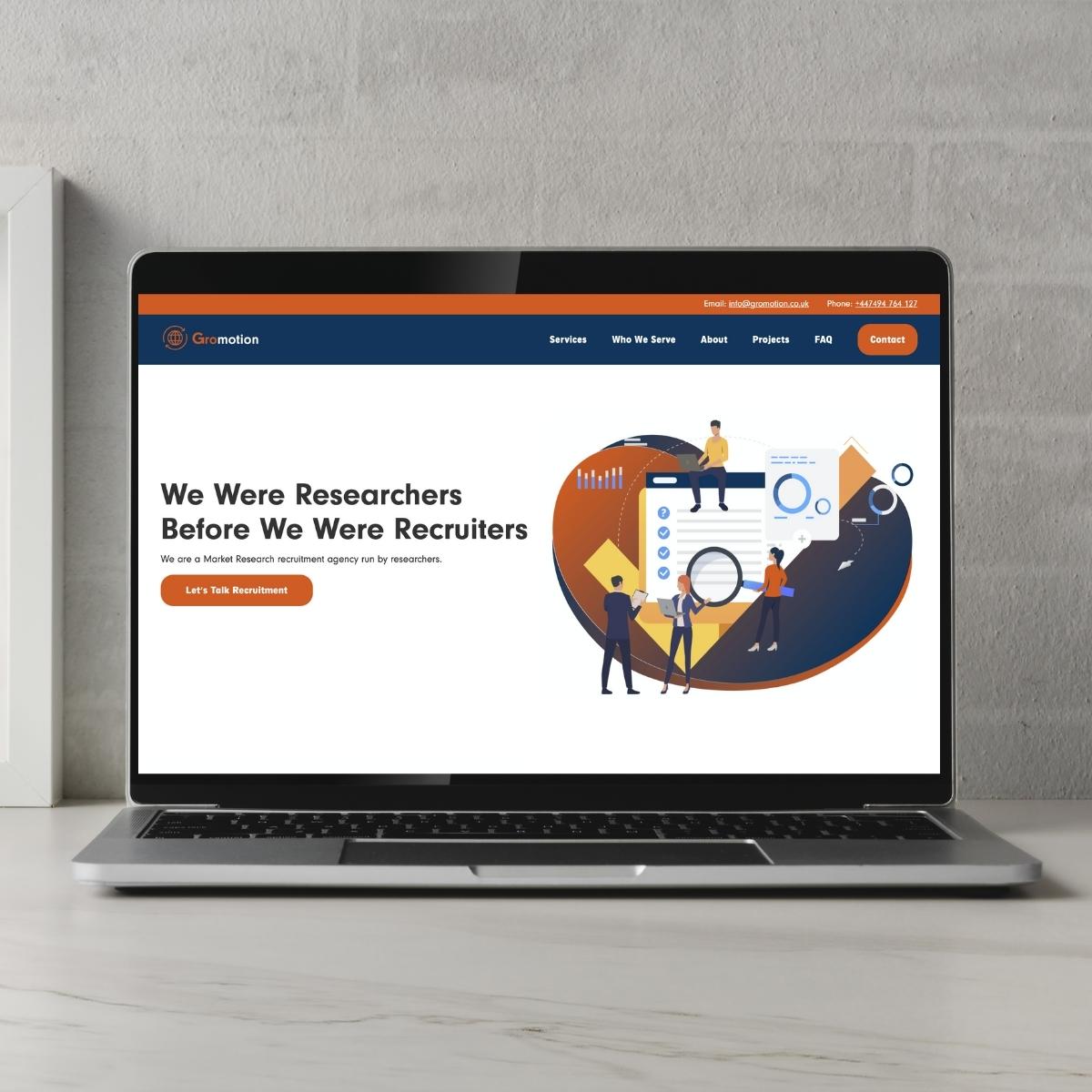 Gromotion Website Image laptop