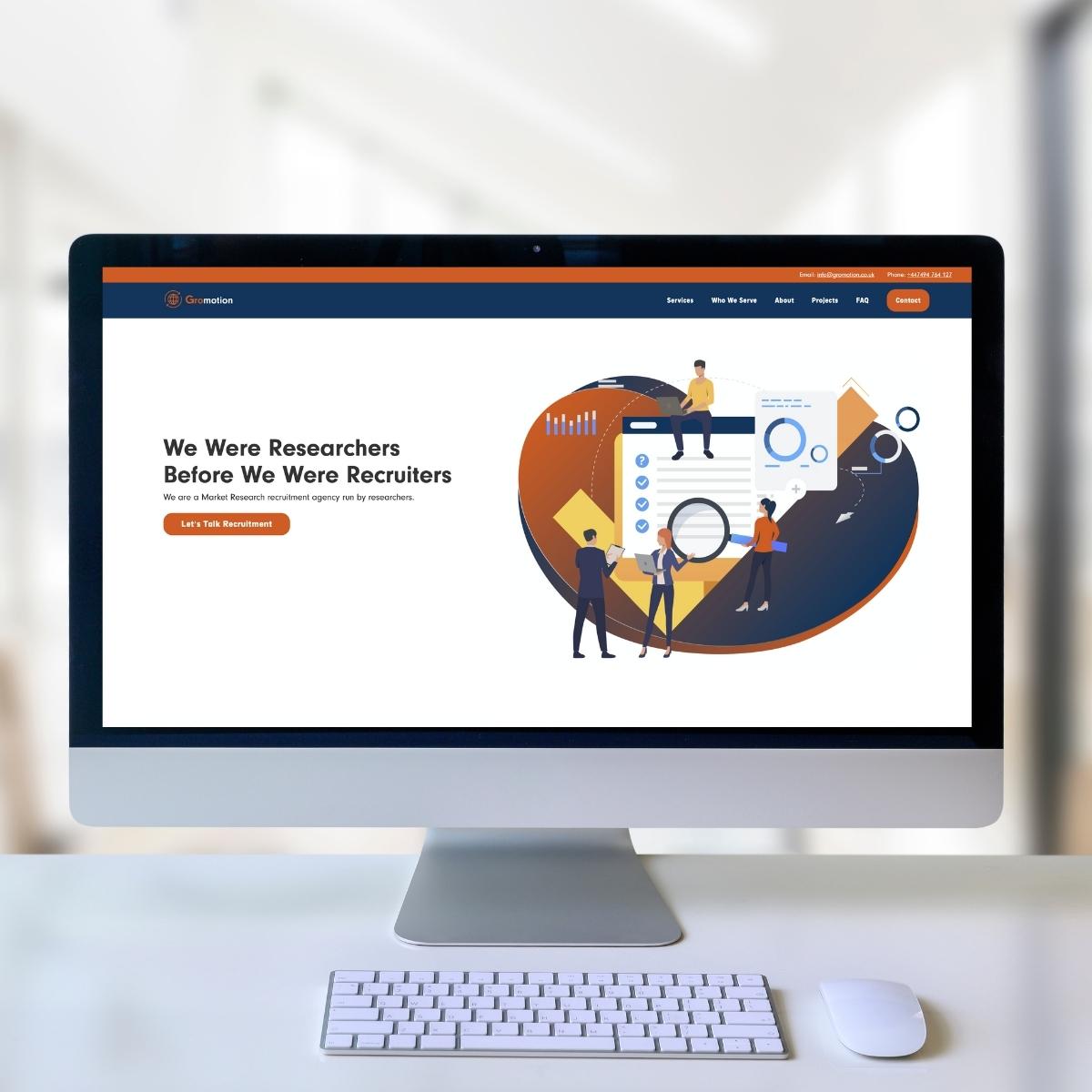 Gromotion Website Image imac