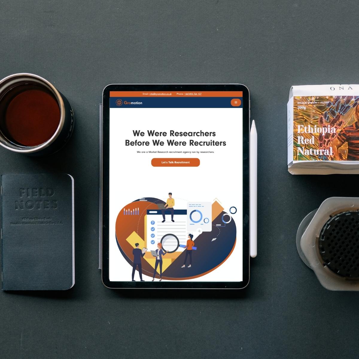 Gromotion Website Image tablet