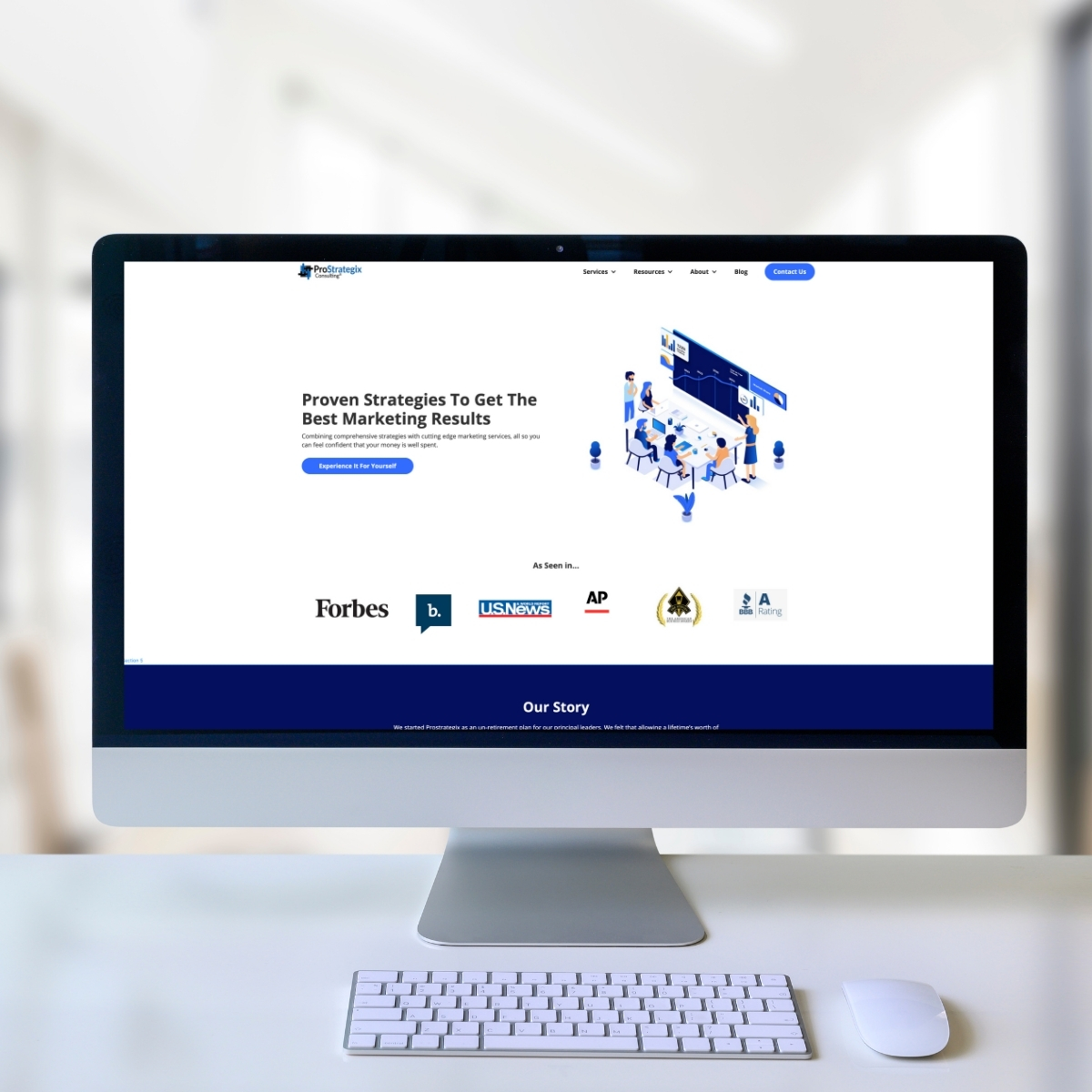 ProStrategix Consulting Website Image Imac