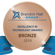 Brandon Hall Group - Excellent in technology awards - bronze 2019