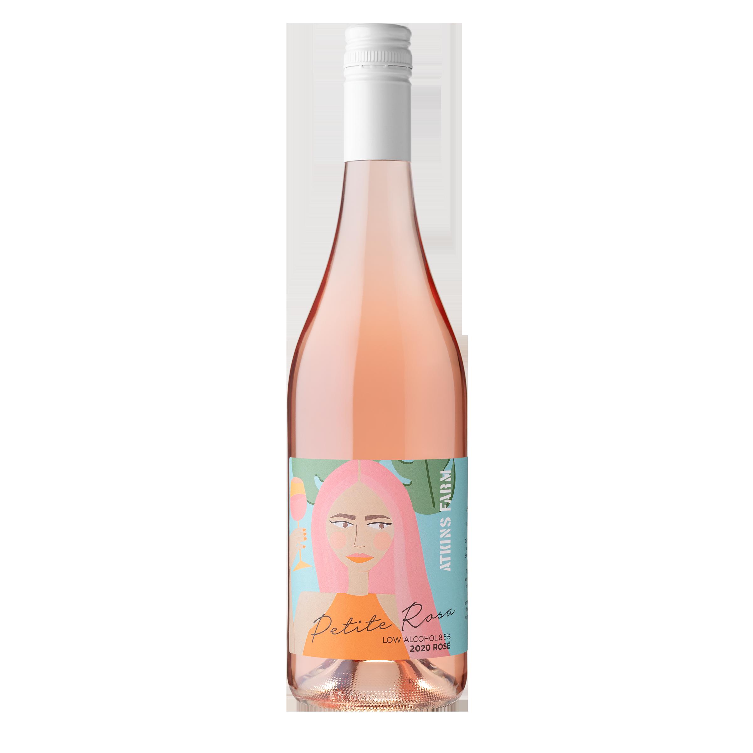 Atkins Farm 'Petite Rosa' Low-Alc Rosé 2020 750ml
