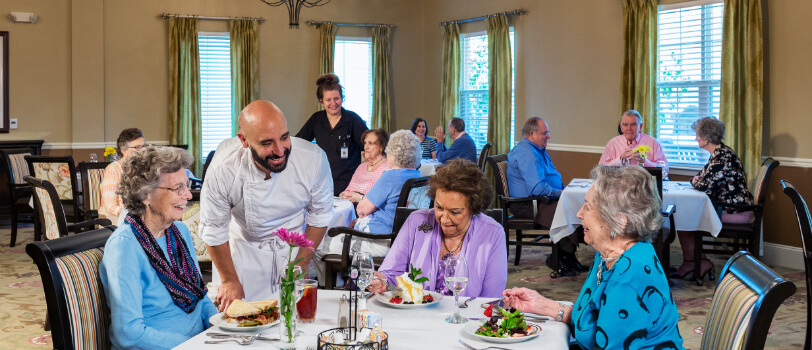 St. Anthony's Gardens Independent Living Seniors Dining Together