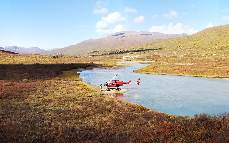 Heli crew transport in Yukon Canda.