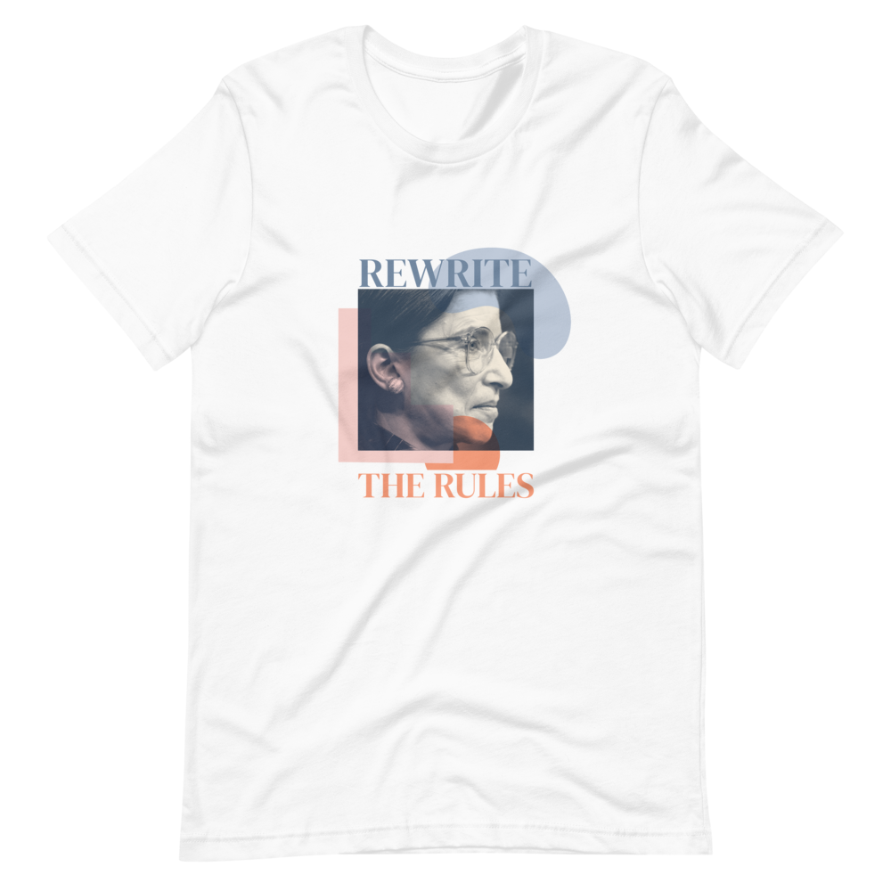 Rewrite the Rules — Ruth Bader Ginsburg Short-Sleeve Unisex T-Shirt in White