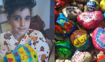 Hospitalized Children Paint Stones for Peace: A US ASHA Photo Winner