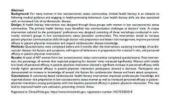 Cardiovascular Health Literacy: A Hadassah Pollin Center Success Story