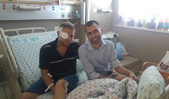Israeli Hero Recovering at Hadassah Hospital Ein Kerem