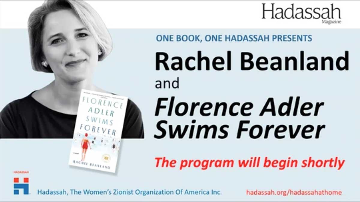 One Book, One Hadassah Live with Rachel Beanland