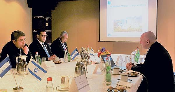 Hadassah Ein Kerem Director Meets With Honduran President