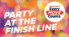 Every Move Counts Party at the Finish Line