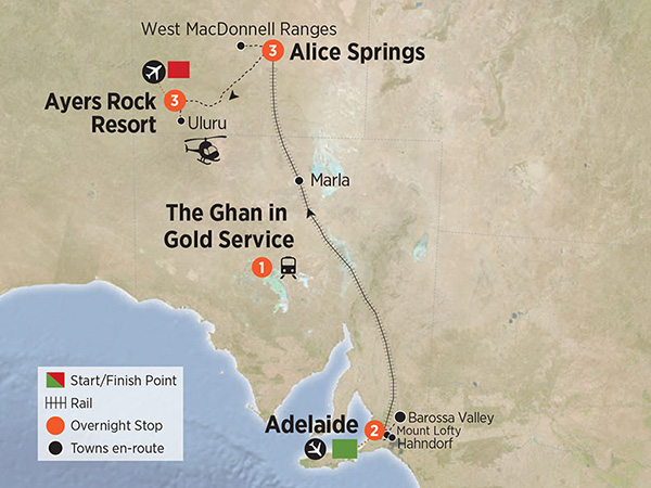 The Ghan Rock & Rail