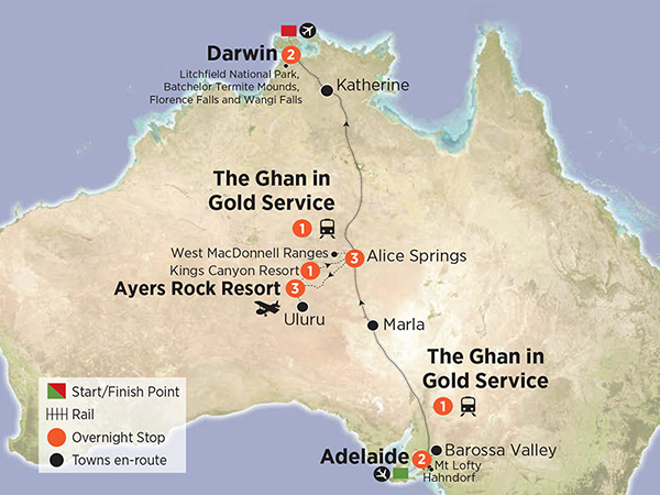 The Ghan and Red Centre Sensation