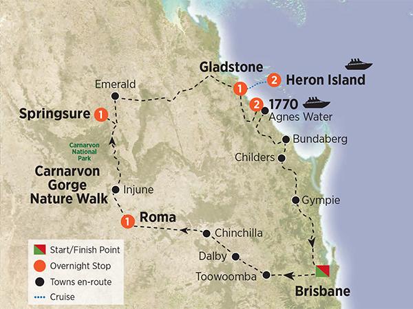 Carnarvon Gorge Wilderness & Heron Island