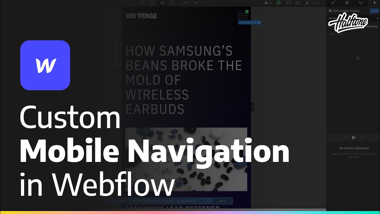 Creating Custom Mobile Nav in Webflow