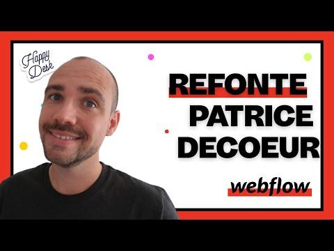 Refonte du Site Web Patrice Decoeur - 2020