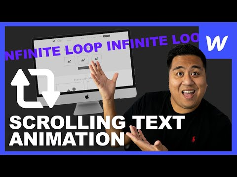 How to Create a Scrolling Text Animation (Infinite Loop) - Webflow Tutorial