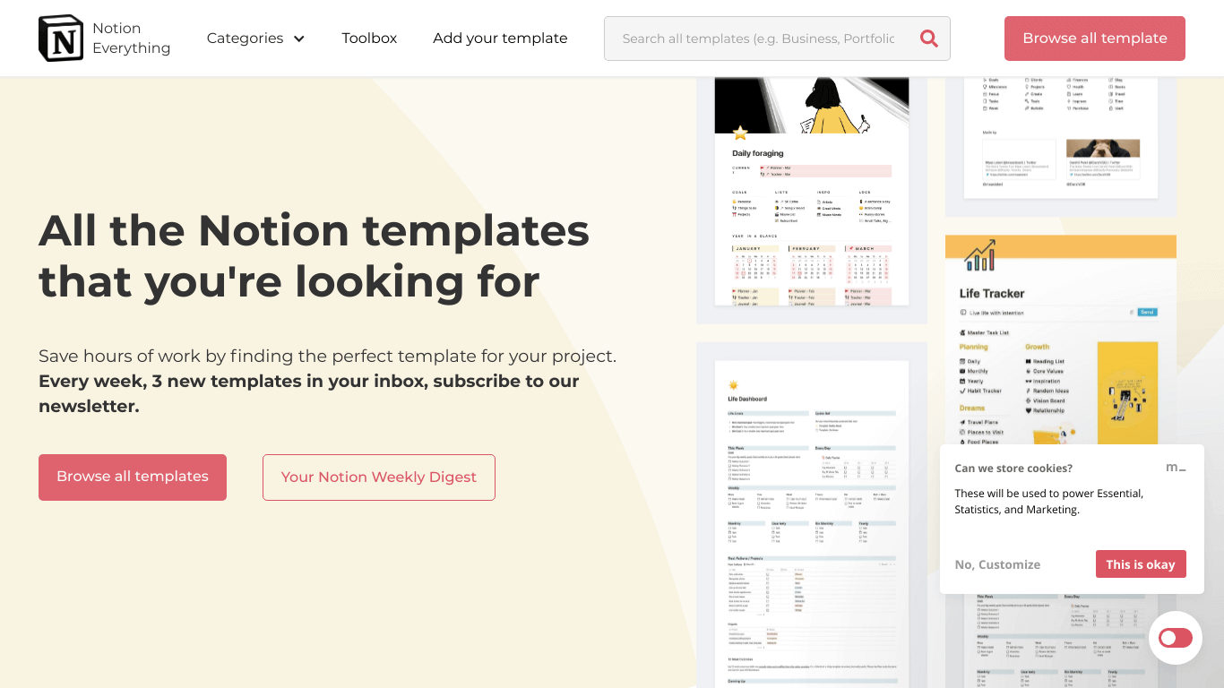 Notion templates - Find the perfect template