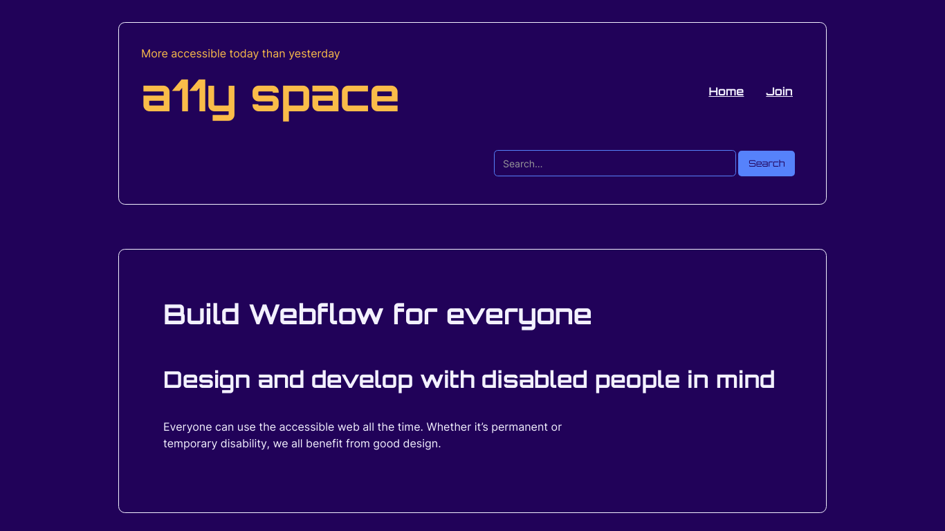 Accessible websites with Webflow