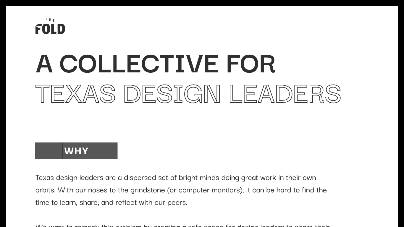 The Fold - A collective for Texas design leaders.