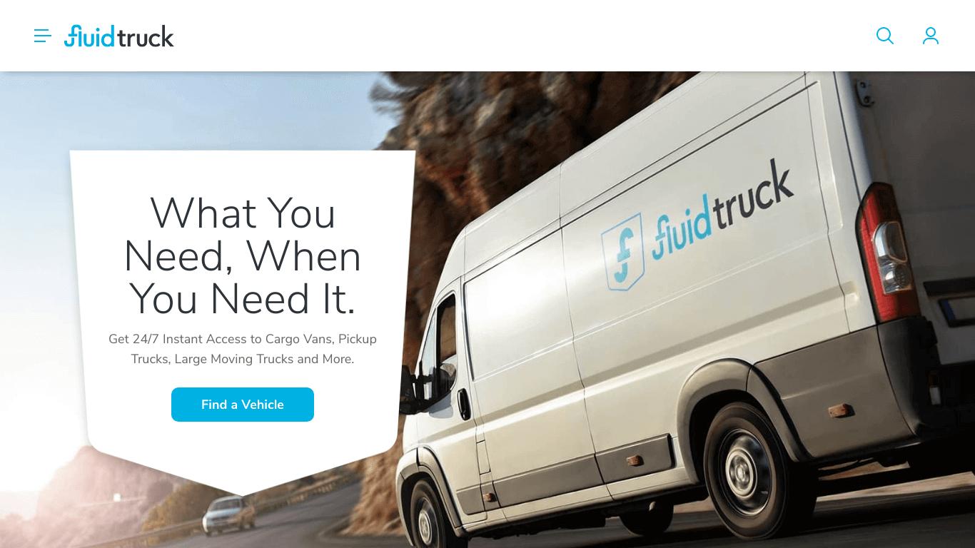 Fluid Truck | Truck Rental and Cargo Van Rental