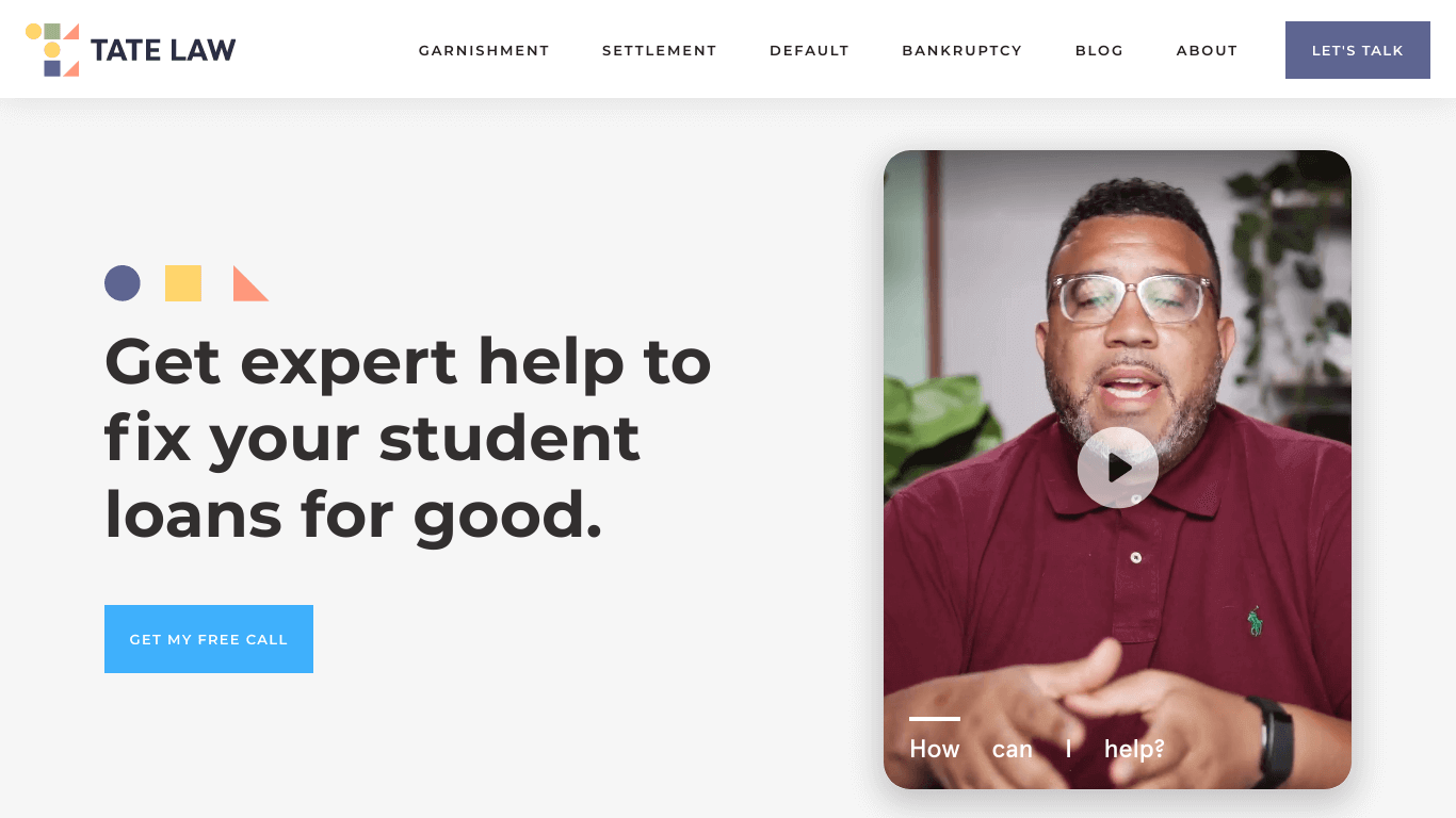 Stanley Tate // Student Loan Lawyer   EXPERT Help