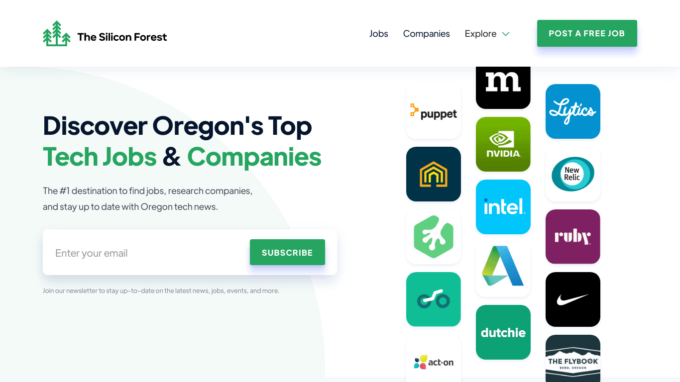 The Silicon Forest: Oregon Tech Jobs & Companies