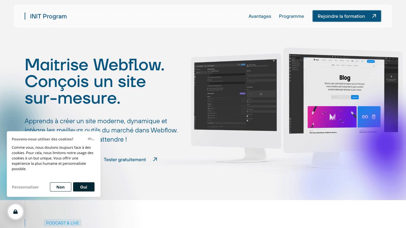 INIT Program   Formation Webflow