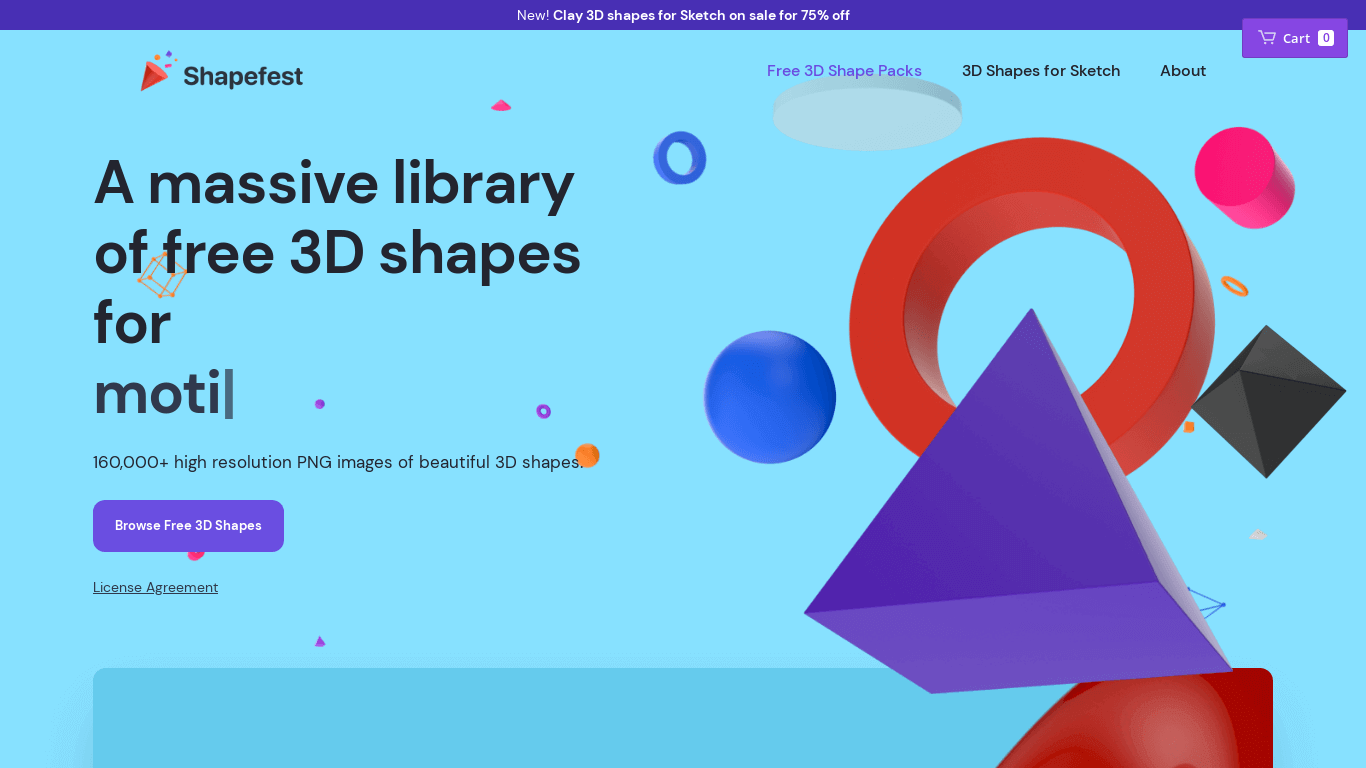 Shapefest™ - A massive library of free 3D shapes