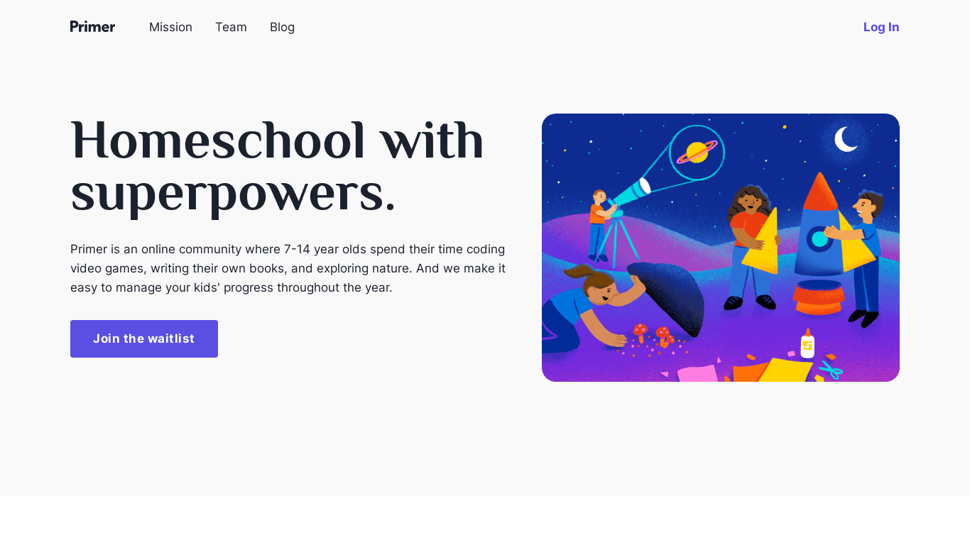 Primer | Homeschool with superpowers