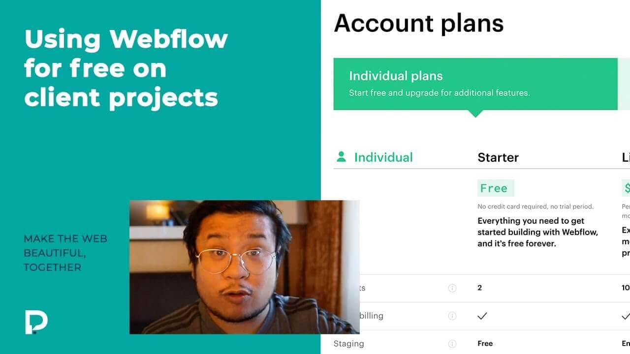 Using Webflow for free on client projects  - Webflow Basics