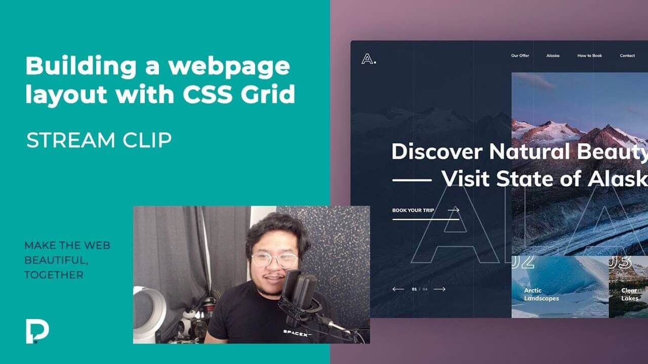 Building a layout using CSS Grid in Webflow - Stream clip