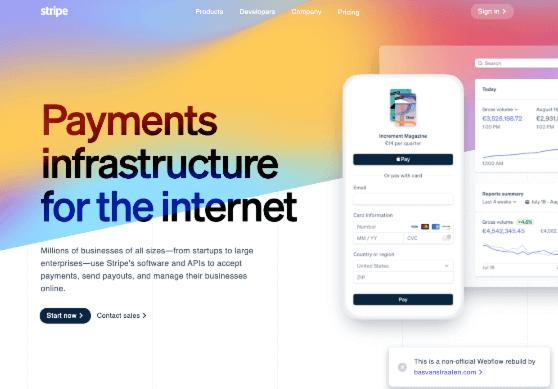 stripe-homepage-free-webflow-cloneable - Webflow