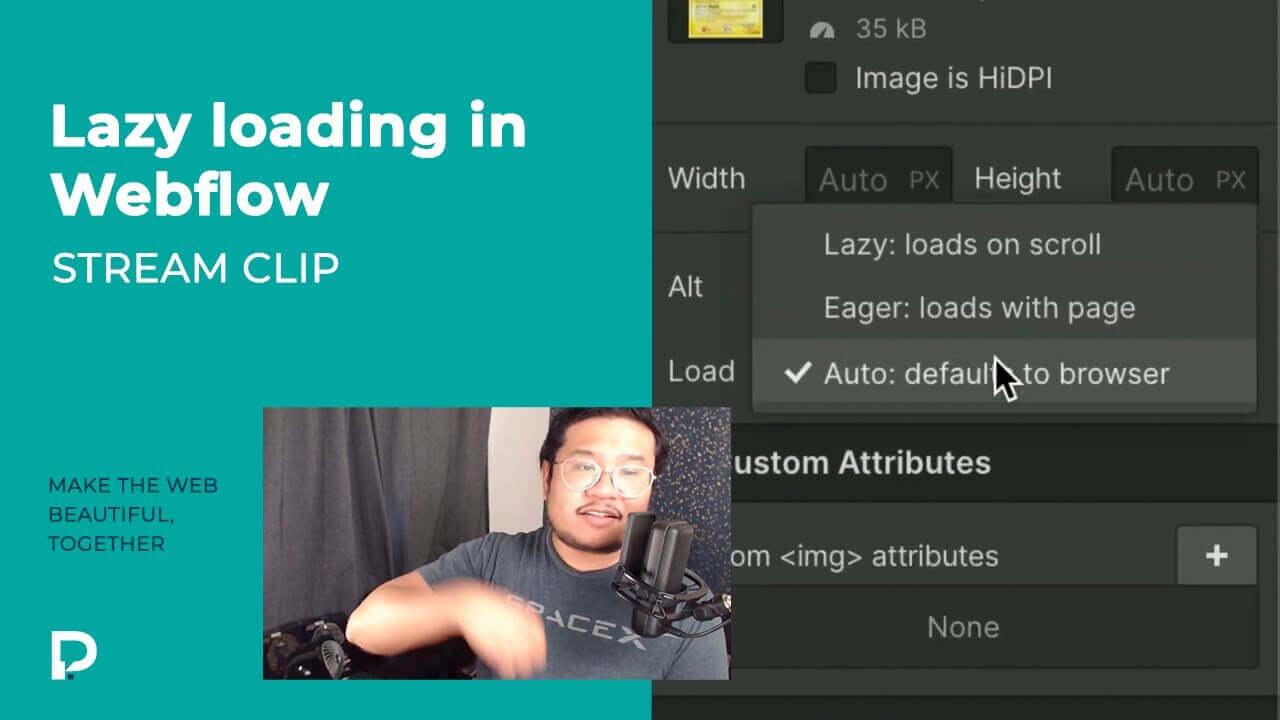 Lazy loading in Webflow - Stream clip